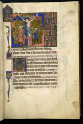 The Crucifixion, in the Salvin Hours
